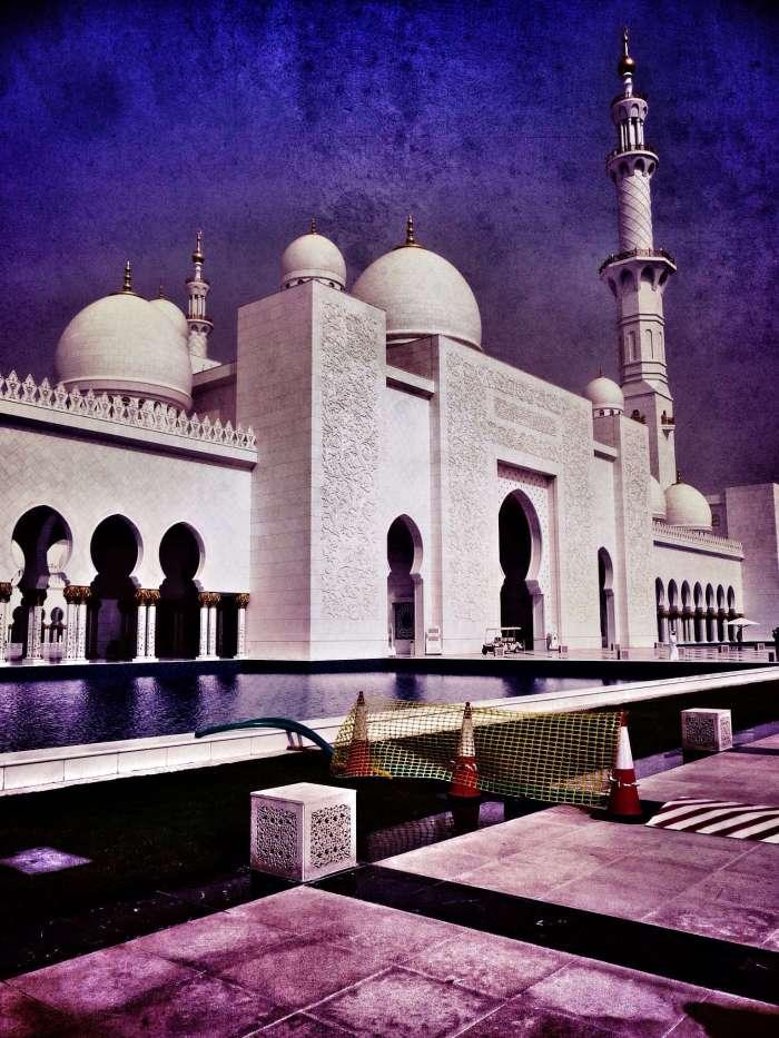 Scheich-Zayed-Moschee von außen