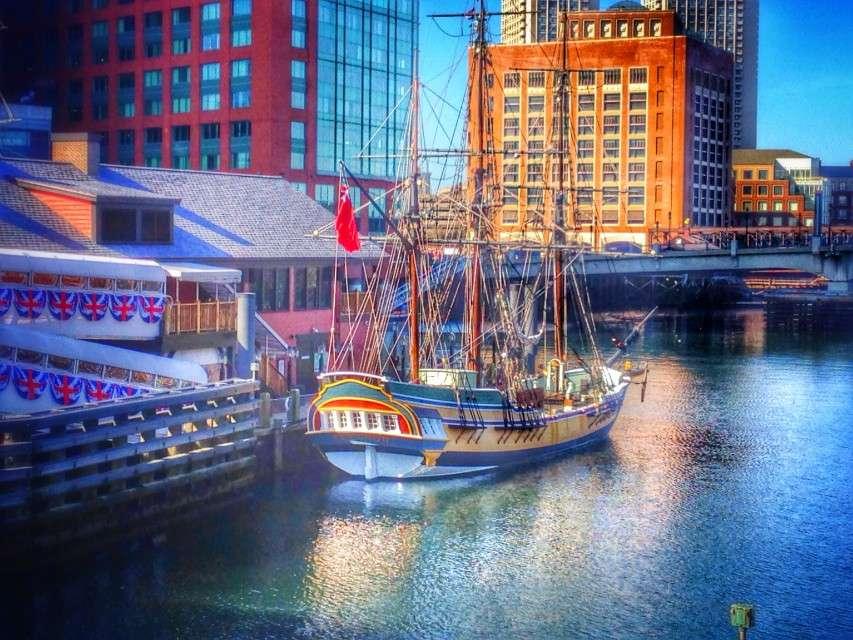 Auch das Museum zur Boston Tea Party und die historischen Schiffe liegen am Freiheitspfad