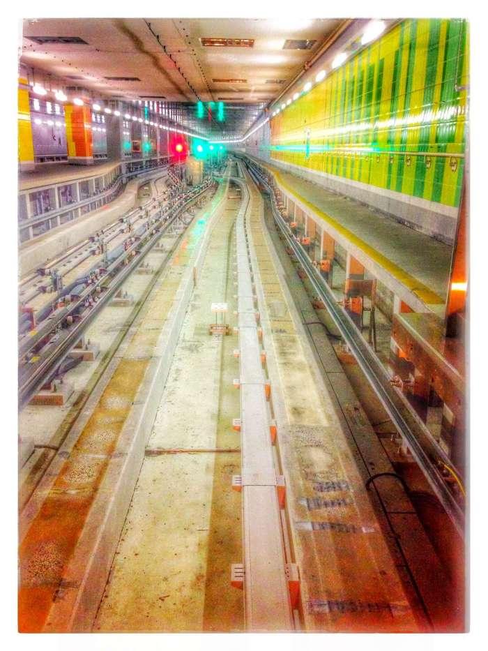 Zugstrecke zwischen den Terminals