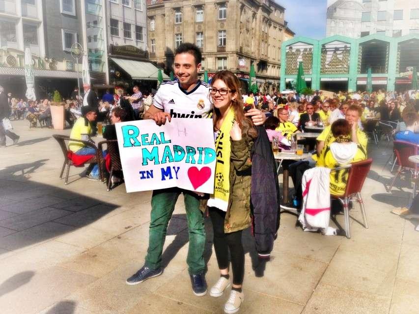Fanfreundschaft eines Real-Fans mit einer Dortmunderin