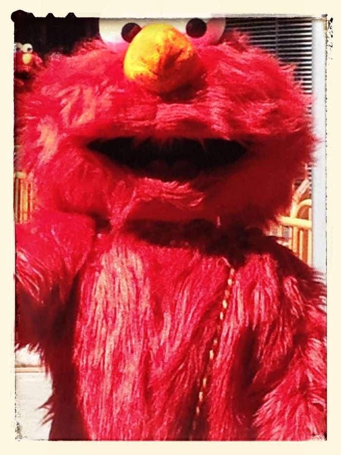 Elmo aus der Sesamstraße auf dem Times Square