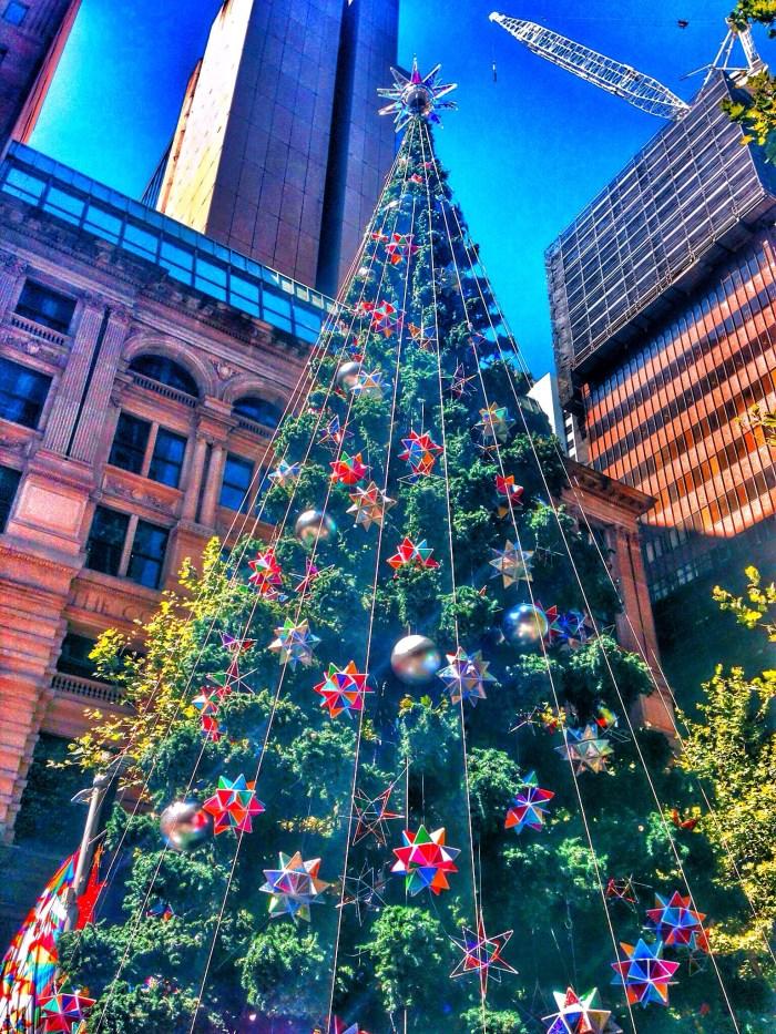 Weihnachtsbaum in der City von Sydney