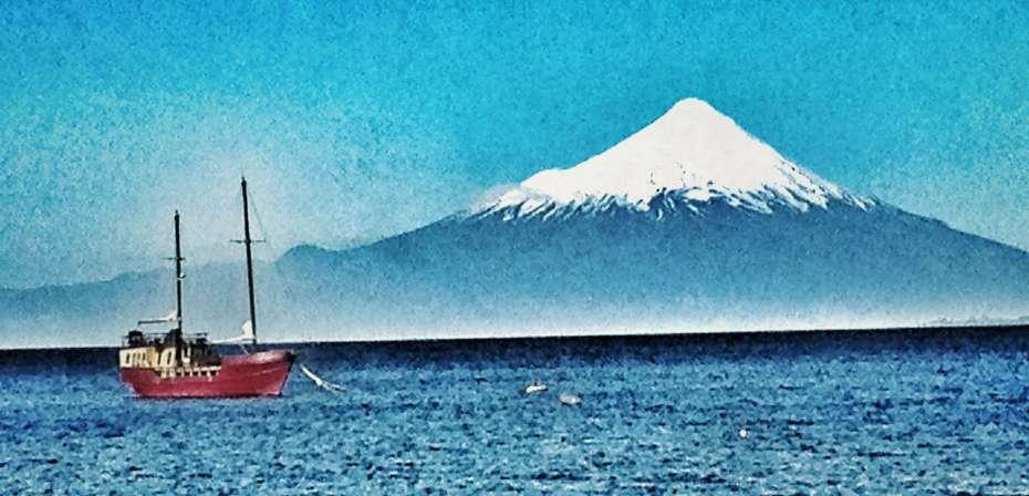 Llanquihue-See mit Vulkan Osorno