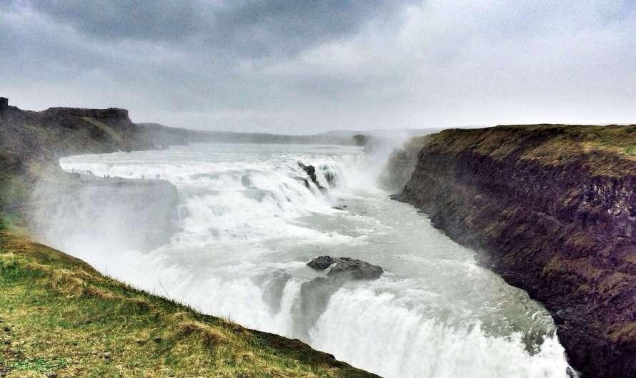 Der Gold-Wasserfall – Gullfoss in Island