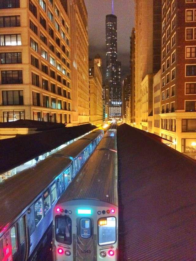 Blick aus der City auf den Trump Tower