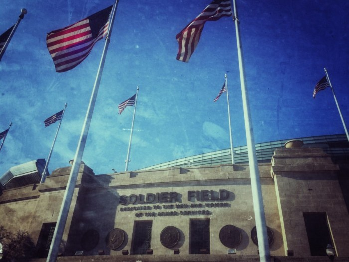 Das Stadion der Football-Mannschaft Chicago Bears