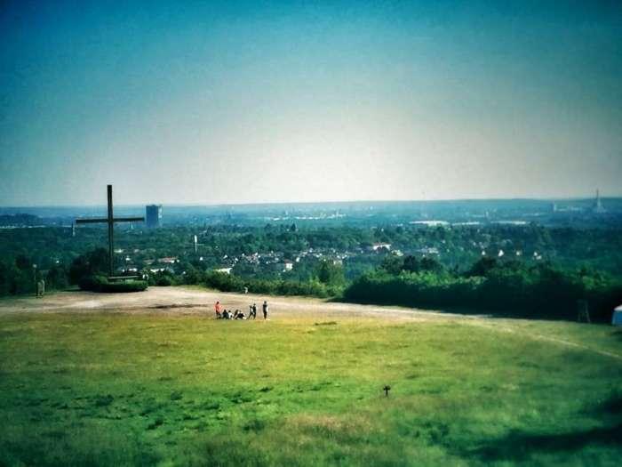 Blick von der Halde ins Ruhrgebiet