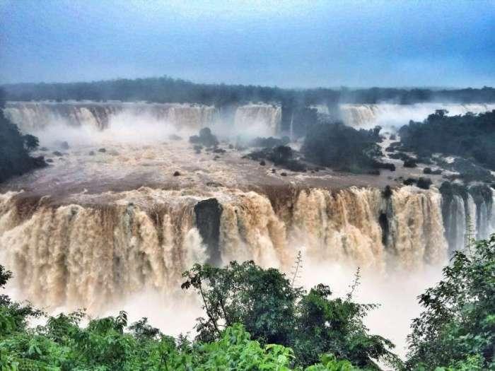 Iguazu von der brasilianischen Seite aus gesehen