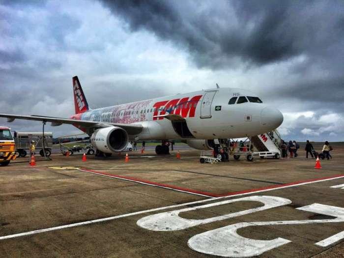 TAM-Flugzeug in Iguazu