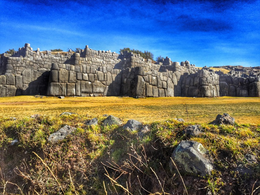 Die Inkafestung Sacsayhuaman bei Cusco