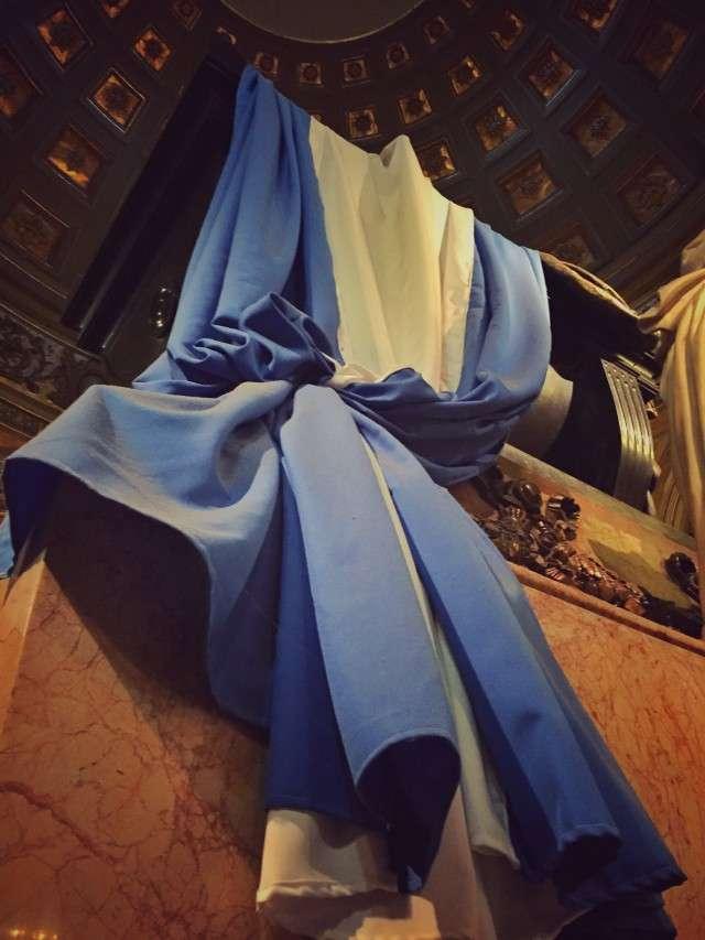 Argentinische Flagge am Grab von San Martin