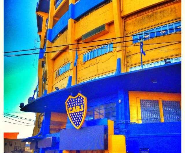 Die Boca Juniors und Volksheld Diego Maradona
