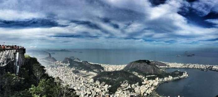 Panorama-Blick auf Rio