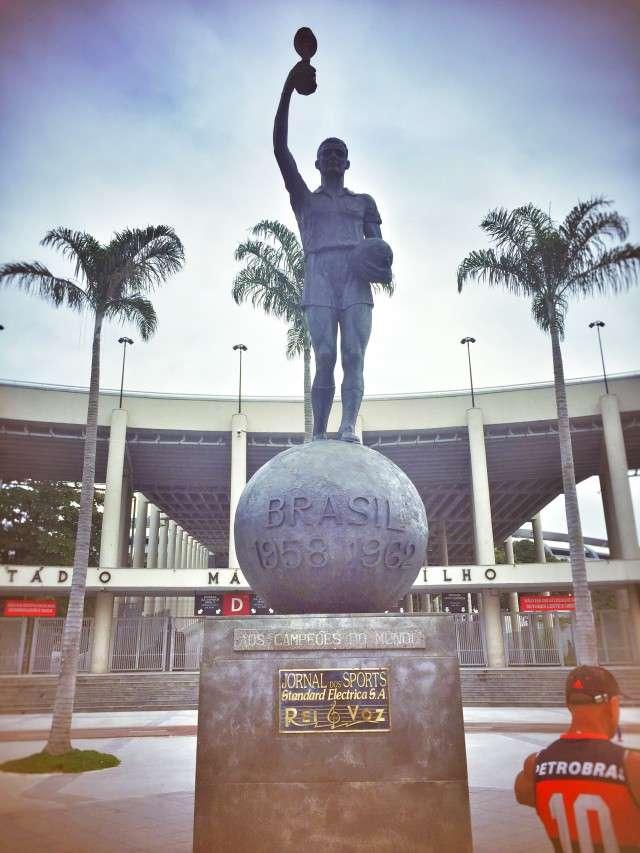 Denkmal für die brasilianischen WM-Helden von 1958 und 1962