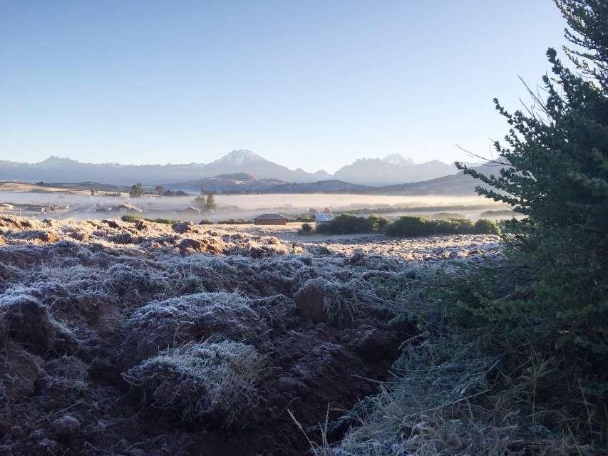 Früher Morgen im Hochland bei Cusco