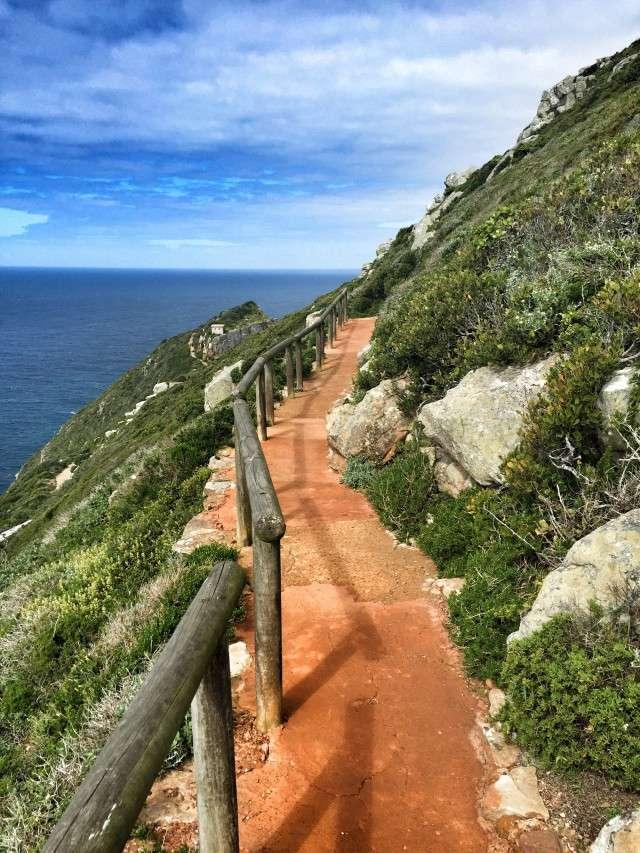 Ein Weg führt zum äußersten Punkt der Halbinsel