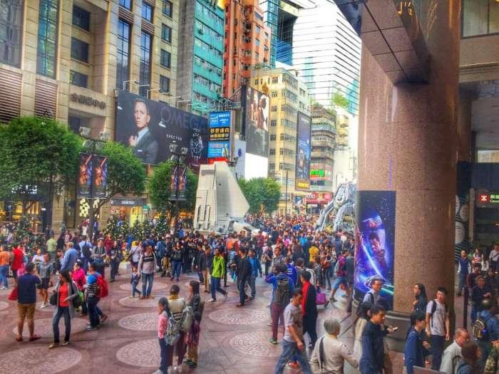 Menschenauflauf am Times Square