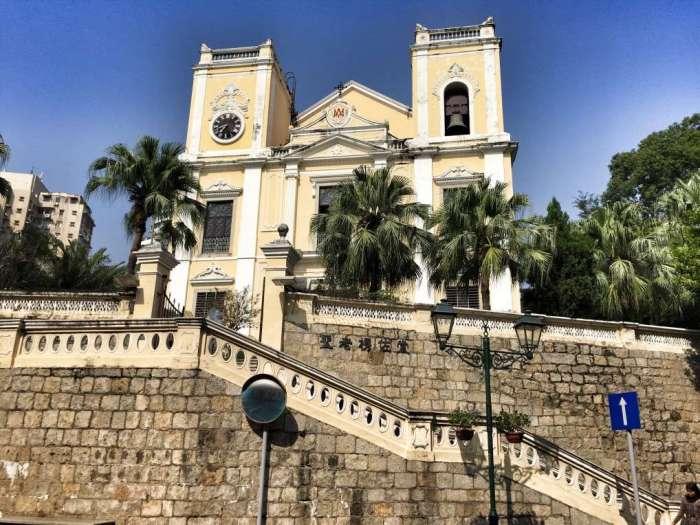 Historische portugiesische Kirche in Macau