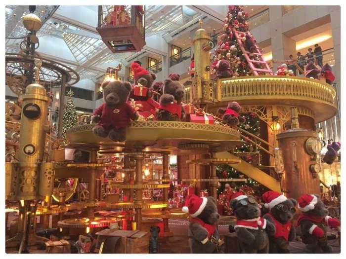 Weihnachten auf Chinesisch - in einer Shoppingmall