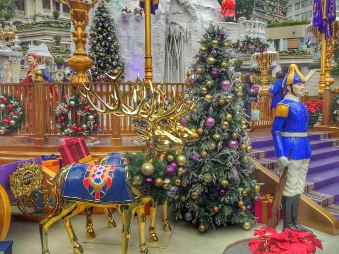 Weihnachtskitsch in Hongkong