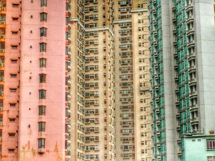 In Hongkong stehen Hochhäuser dicht an dicht