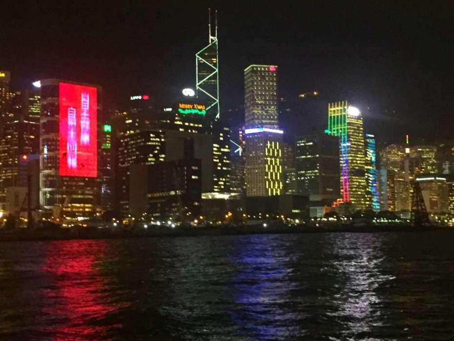 Hongkong Island bei Nacht