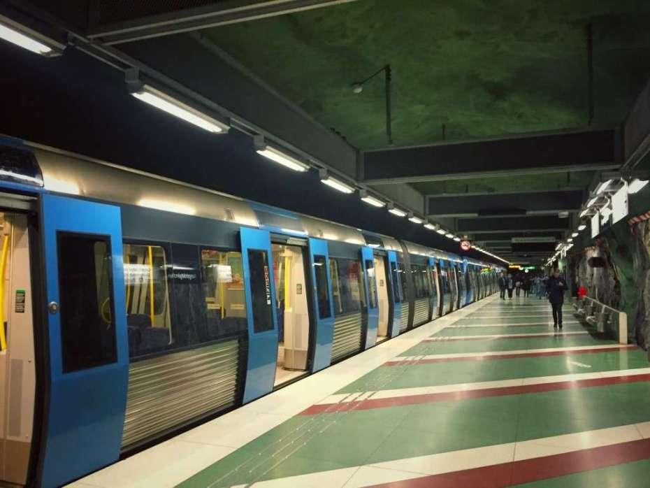 Zug in Kungsträdgården