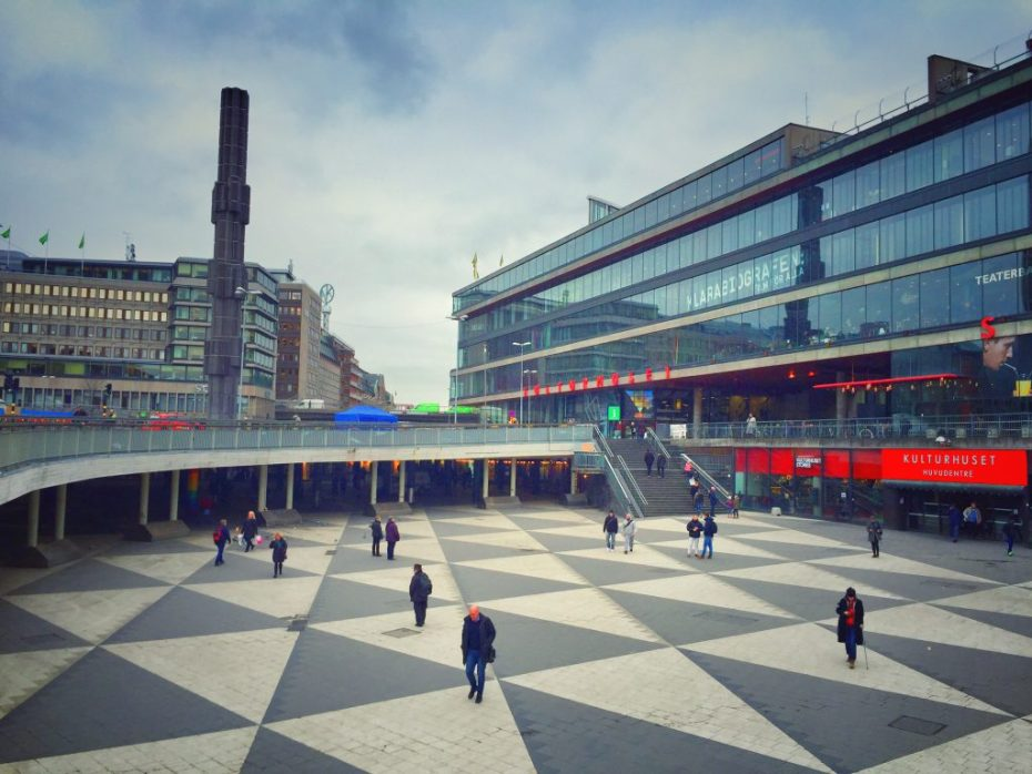 Der zentrale Platz in der City