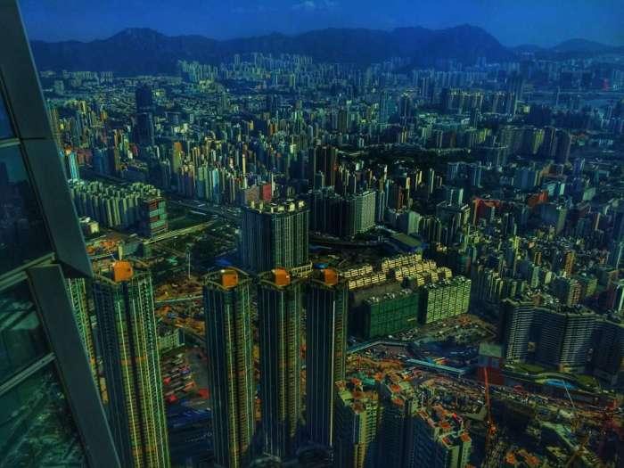Blick auf den Stadtteil Kowloon