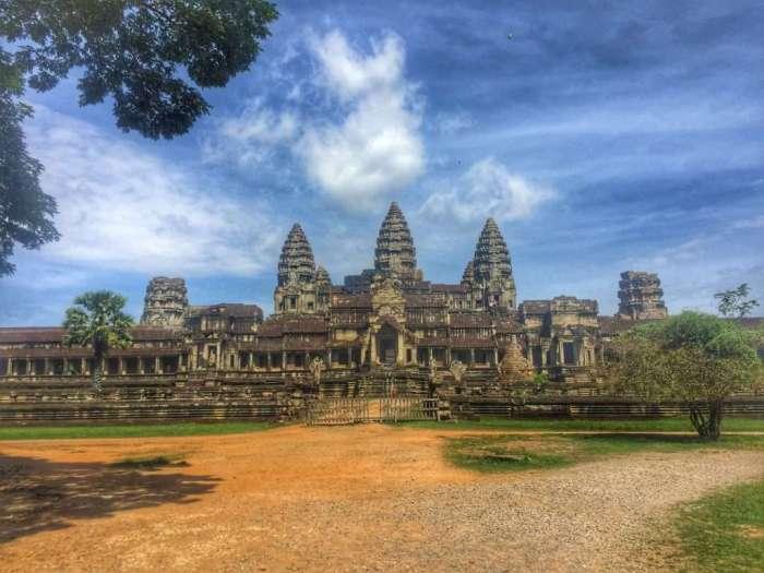 Die berühmte Tempelanlage in Angkor Wat