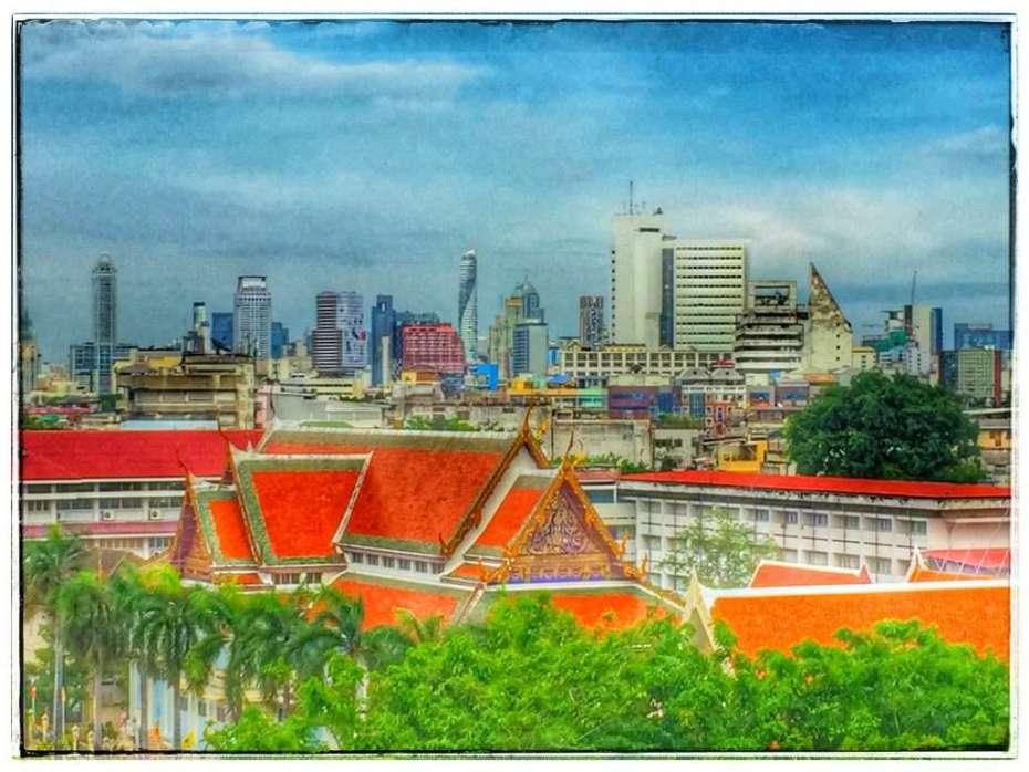 Blick auf die moderne City