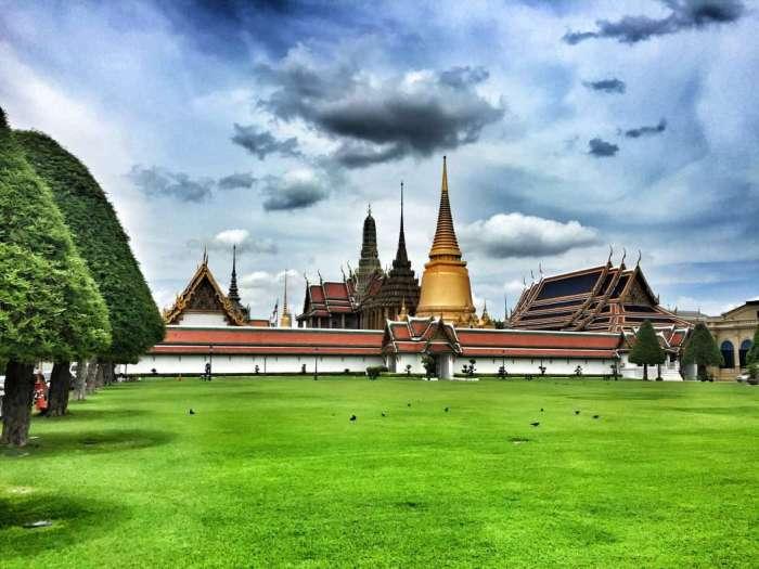 Blick auf den Palast