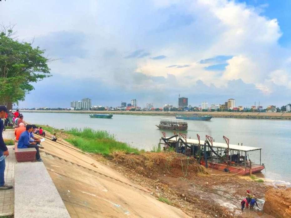 Der Tonle Sap an der Uferpromenade
