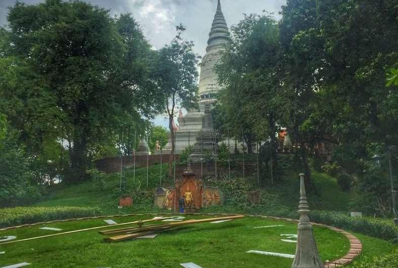 Der Hügel, der Phnom Penh den Namen gab
