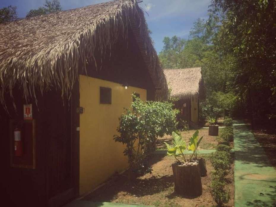 Die Hütten in der Amazonas Turtle Lodge