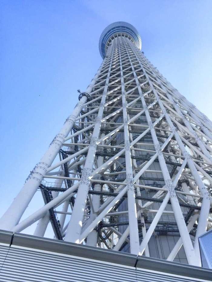 Der Fernsehturm von unten