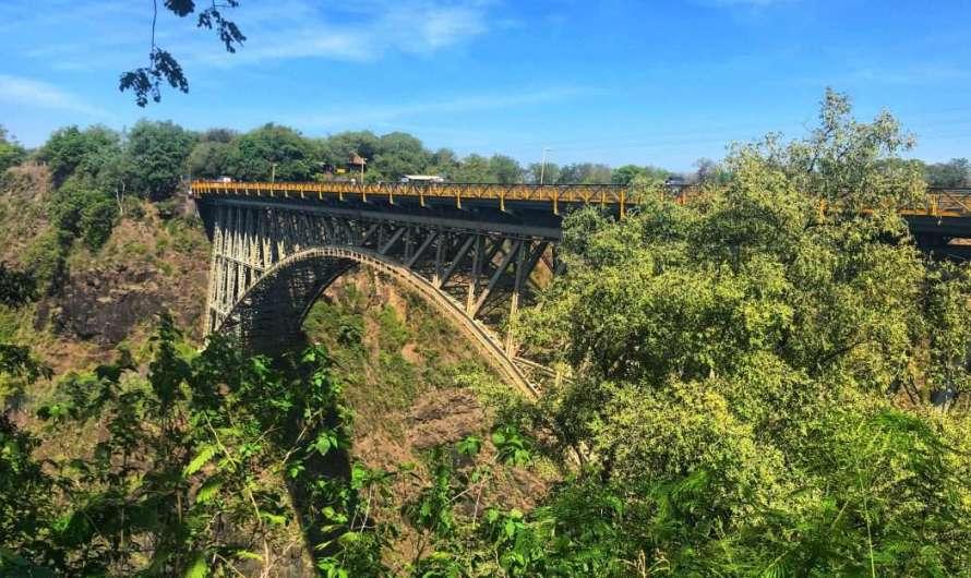 Die Sambesi-Brücke in Vicoria Falls