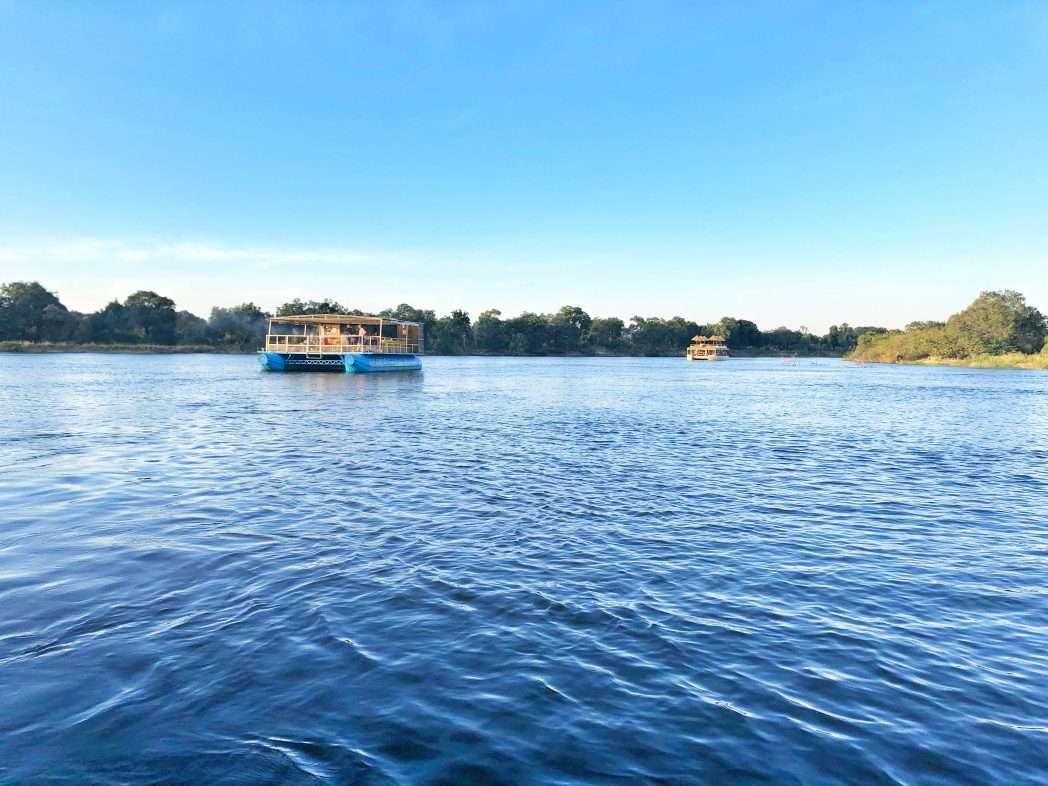 Boot auf dem Sambesi-Fluss