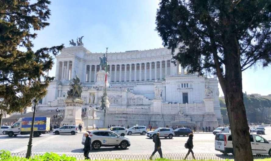 Der Klotz in Rom mit gutem Ausblick