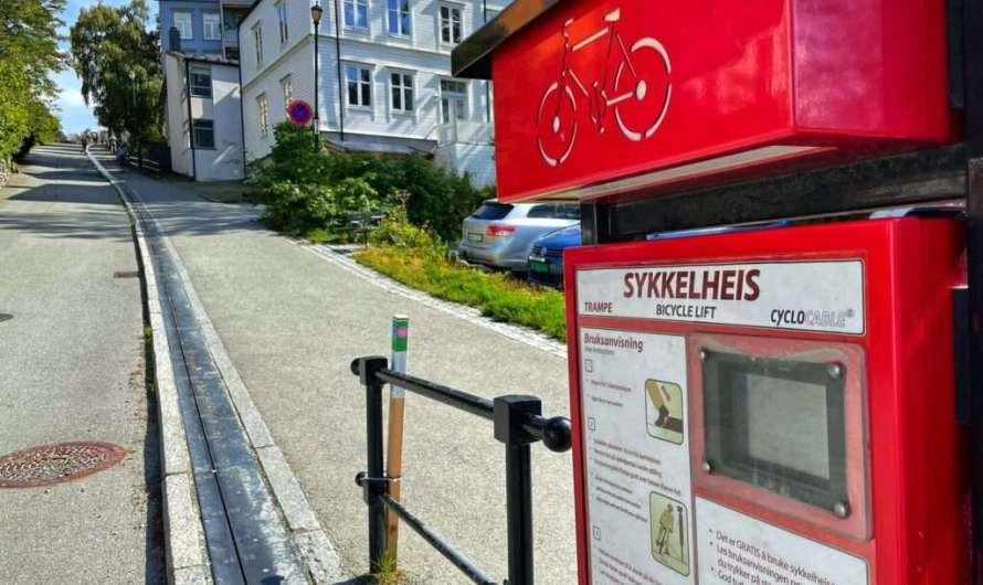 Der Fahrrad-Aufzug in Trondheim