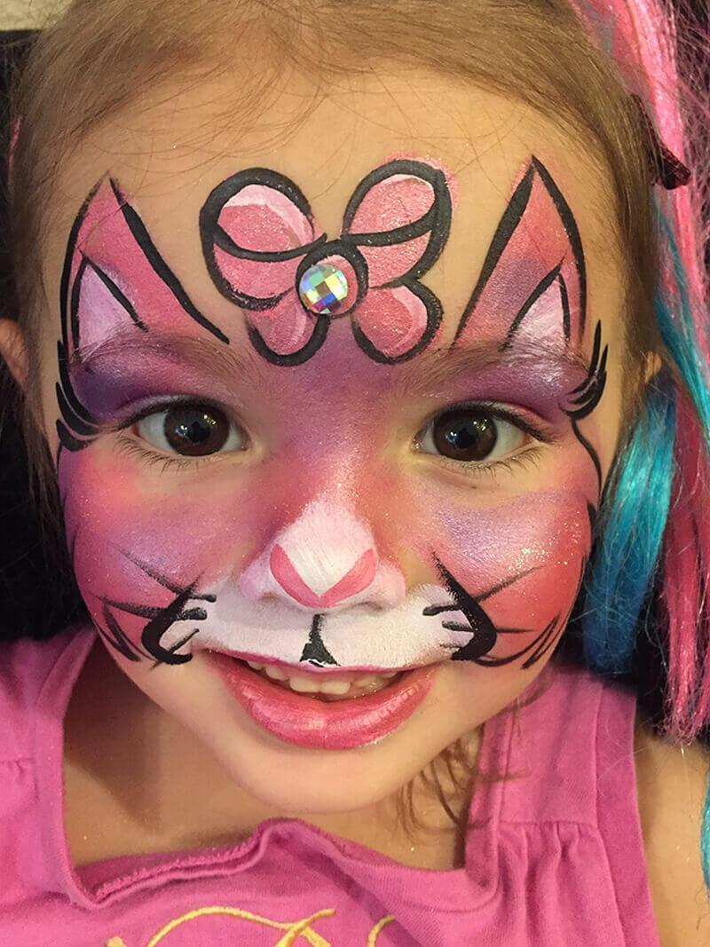 Kitty Cat Face Paint : kitty, paint, Kitty, Paint, Design, Orlando, Painting, Colorful, Events