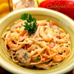 Creamy Shrimp Linguine