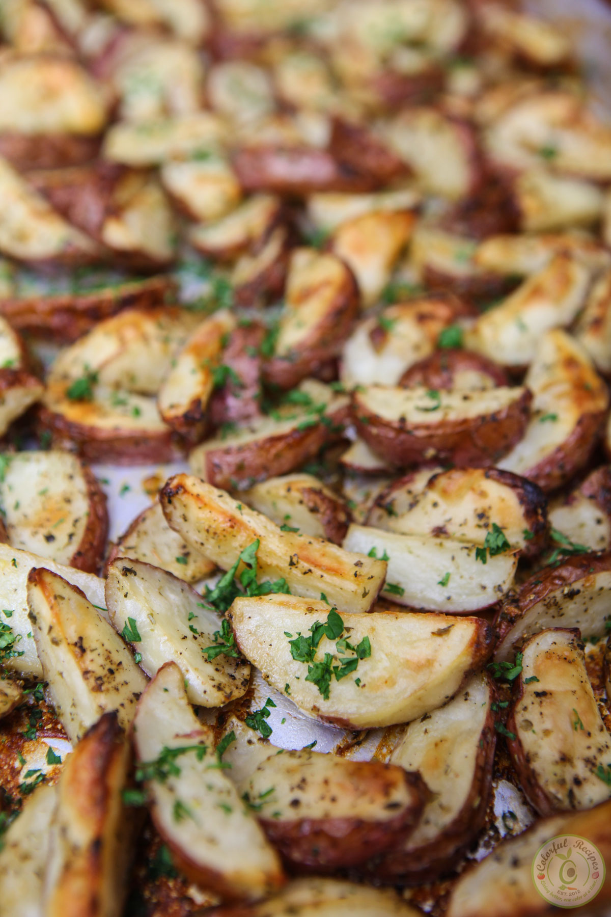 Italian Ranch Roasted Red Potatoes