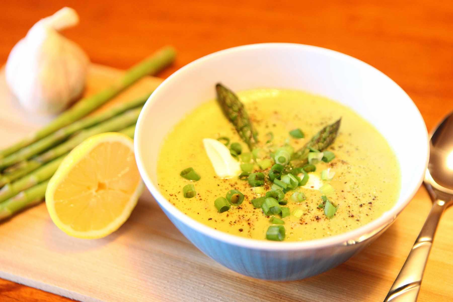 roasted asparagus creamy soup