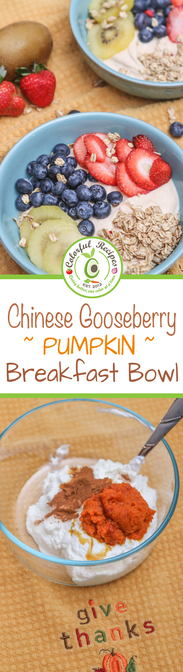 Chinese Gooseberry Pumpkin Breakfast Bowl