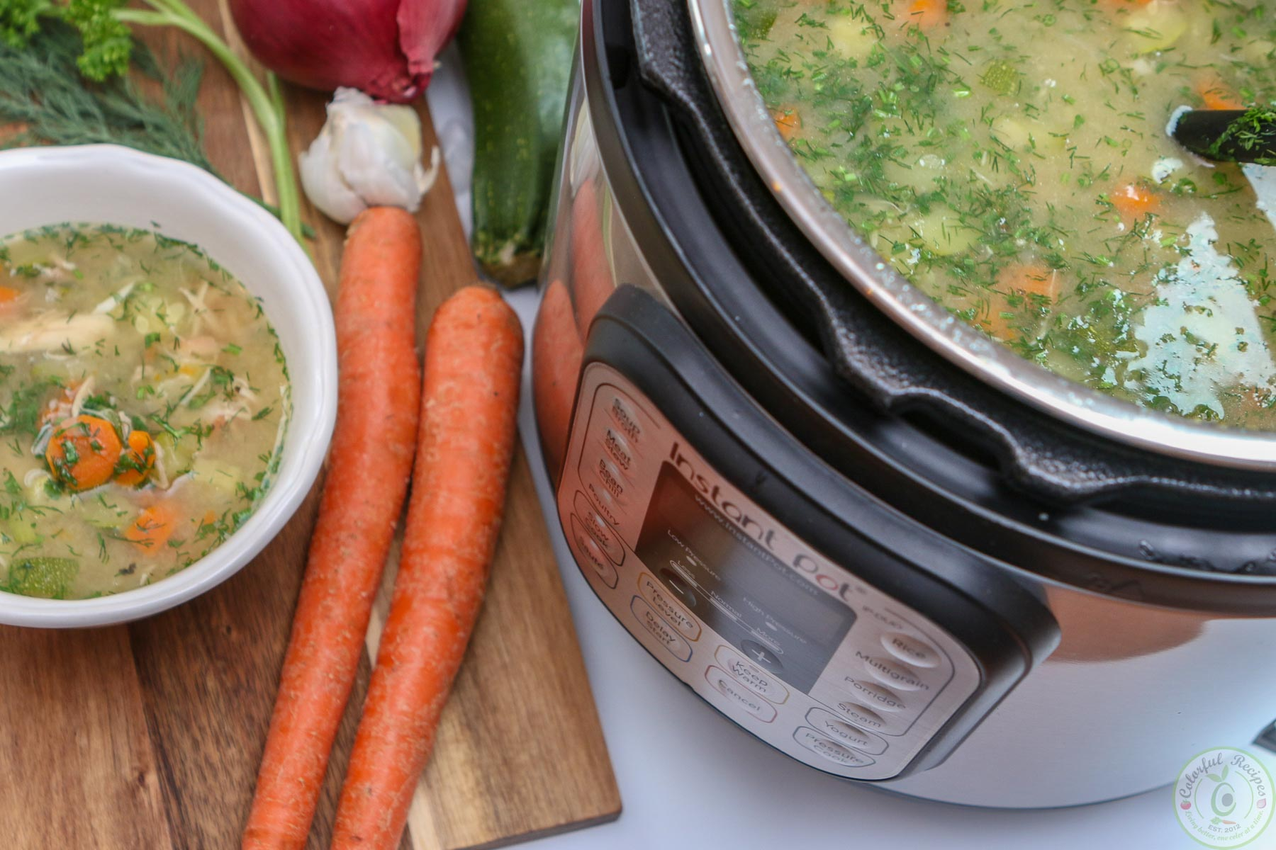Instant Pot Chicken Soup From Scratch