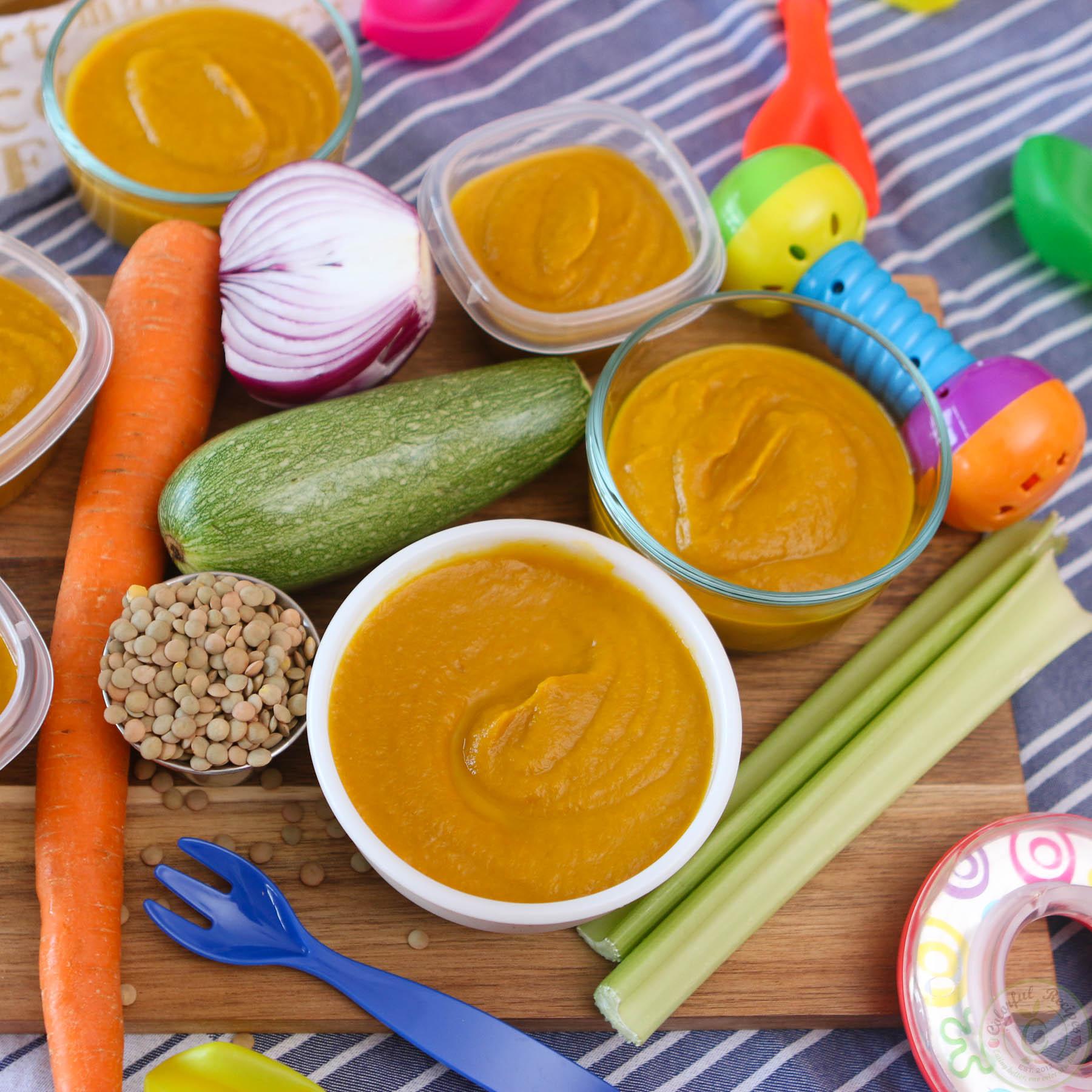 Veggie Lentil Yummy In Ma Tummy Baby Puree