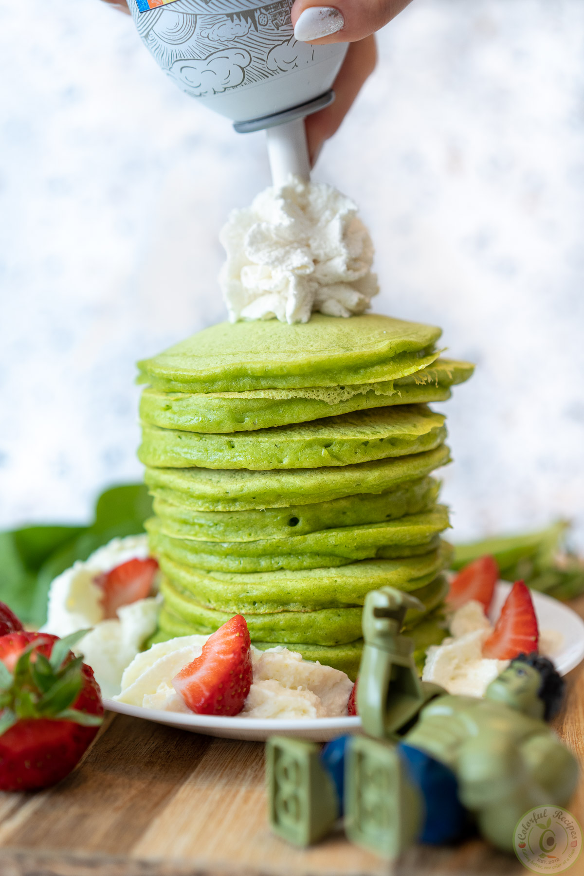 Green pancakes with spinach recipe