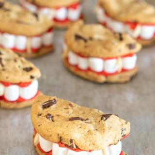 Vampire dentures easy halloween cookies