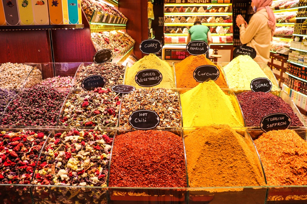 Spices at the Spice Market, Istanbul